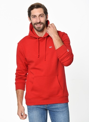 Tommy Hilfiger Kapüşonlu Sweatshirt Kırmızı